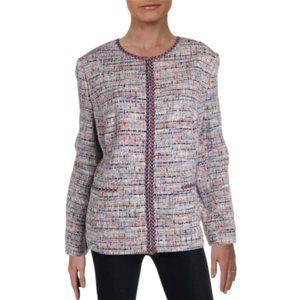 Basler Womens Tweed Zip-Up Blazer 8